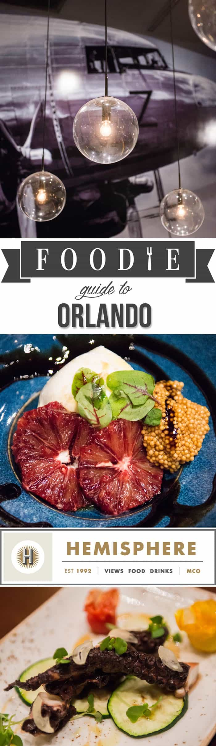 Whether you're living in Florida, visiting on vacation, or passing through, you'll love my Foodie's Guide to Orlando: the re-imagined Hemisphere restaurant.