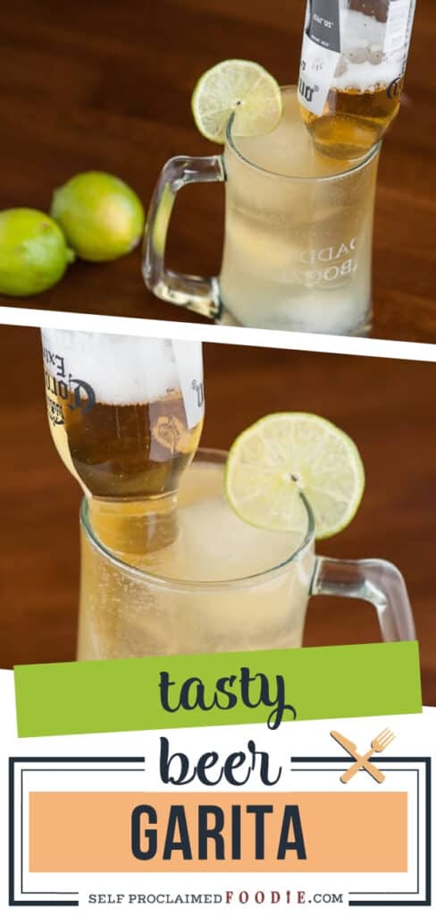 A fun beer drink, this Beer Garita combines Mexican beer with a freshly made margarita resulting in the perfect summer drink! It is a simple beer cocktail that will freshen you up. Make this cocktail for the summer heat!