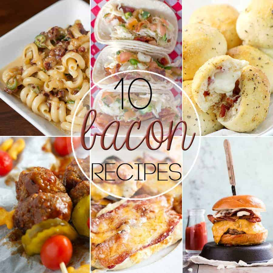 Considering this mouthwatering cured meat should have its own food group, I've compiled a list of 10 Recipes where Bacon is the Star you're sure to love.
