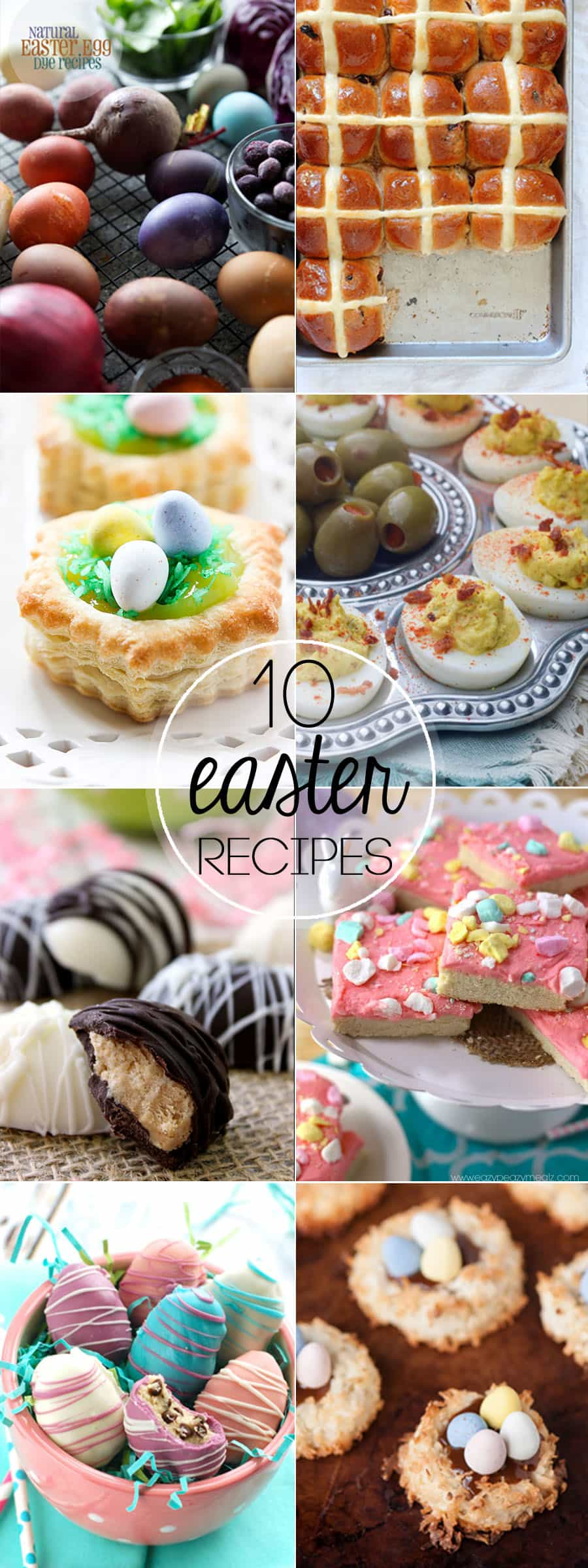 Celebrate Spring with these 10 Recipes Perfect for Easter. From natural Easter egg dye, to deviled eggs, to sweet treats, make this Easter fabulous!