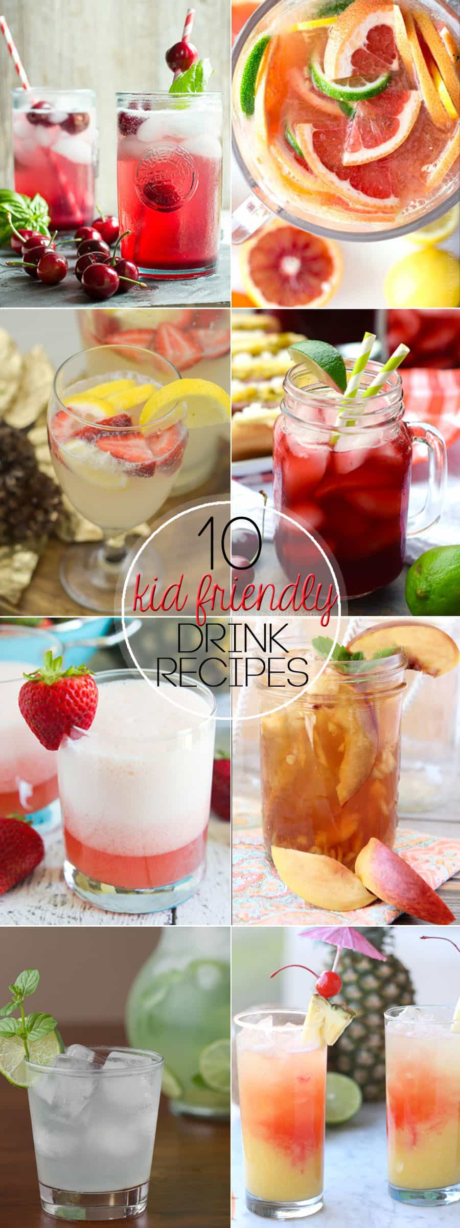Summer is coming, and warm weather days require delicious beverages the whole family can enjoy. Relax and enjoy these 10 Kid Friendly Drink Recipes!