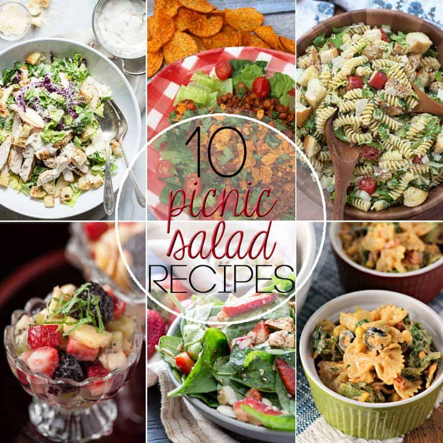 This time of year, we celebrate the outdoors with our friends and families. I'm sharing 10 Picnic Salads Perfect for Potlucks that everyone will love!