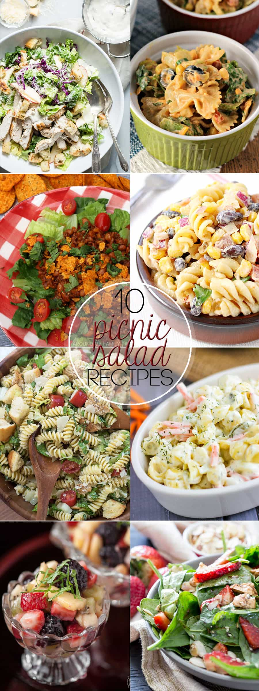 This time of year, we celebrate the outdoors with our friends and families. I am sharing 10 Picnic Salads Perfect for Potlucks that everyone will love!