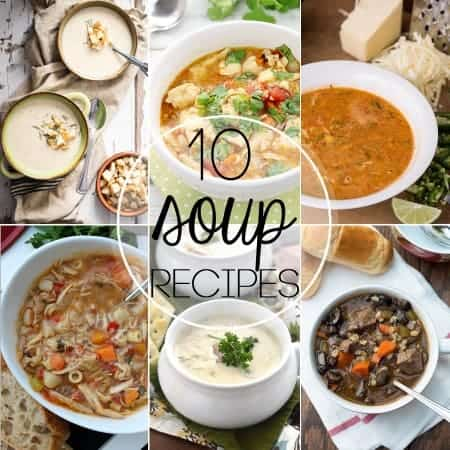 Winter ain't quite over yet, so I've rounded up 10 of the Best Soup Recipes to keep your family warm, well fed, and happy with the best known comfort food.