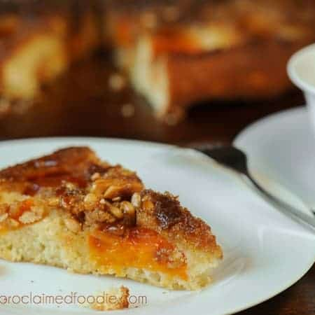 Apricot Almond Upside Down Cake