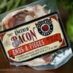 This wonderfully delicious package of apple wood smoked bacon ends and pieces is exactly the same product as sliced bacon, but it is much cheaper and can be used in a wide variety of recipes.