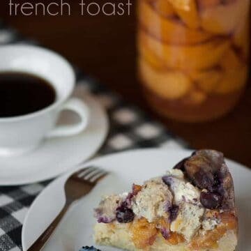 Campfire Blueberry Peach French toast is a perfect start to your camping morning. Peaches, blueberries and cream cheese make a delicious campfire breakfast.