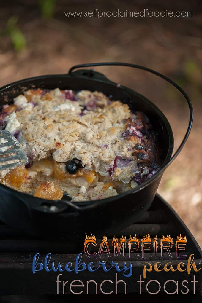 campfire-blueberry-peach-french-toast