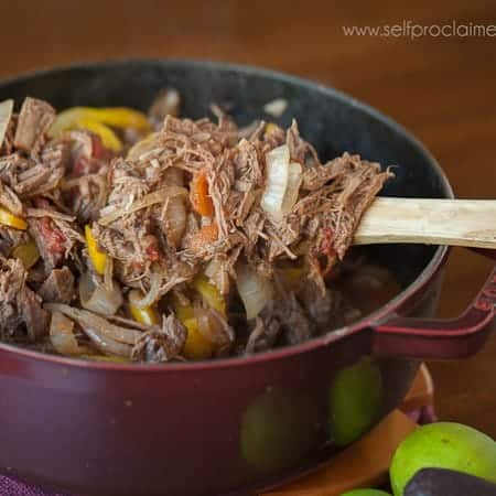 Cuban Shredded Beef with Peppers and Onions is a delicious blend of tender meat and delectable flavors that combine to make a healthy and wholesome meal.