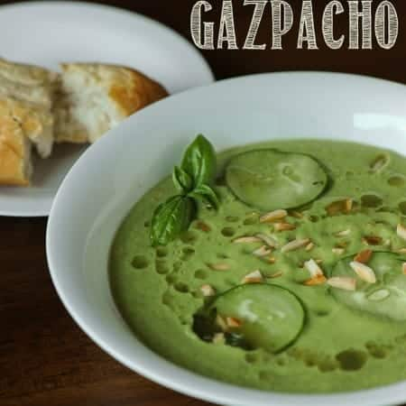 Cucumber Avocado Basil Mint Gazpacho | Self Proclaimed Foodie