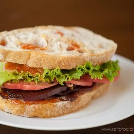 BLT with Sun Dried Tomato Roasted Garlic Aioli