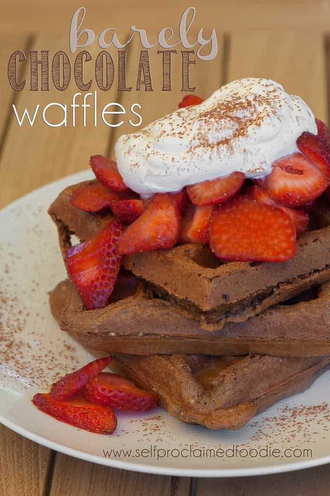 Barely Chocolate Waffles
