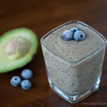 Blueberry Avocado Smoothie | Self Proclaimed Foodie