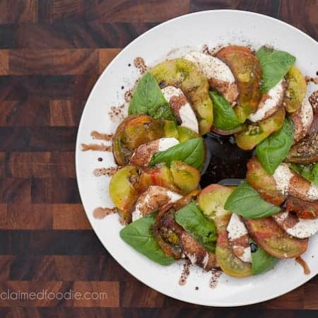 Caprese Salad with Balsamic Reduction | Self Proclaimed Foodie