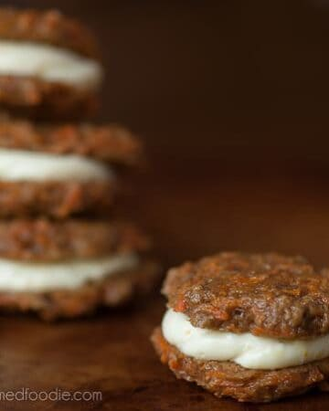 Carrot Cookies with Orange Cream Cheese Filling | Self Proclaimed Foodie