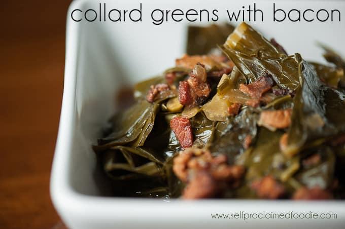 Collard Greens with Bacon   Self Proclaimed Foodie