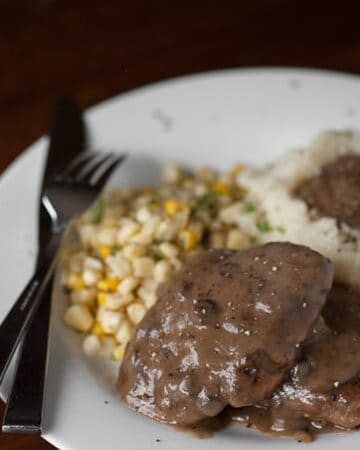 This Easy Salisbury Steak is one of those meals that is easy to make, tastes amazing, and just makes you feel good because its pure comfort food.