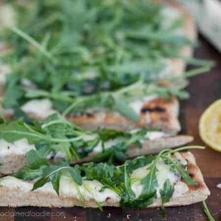 Flatbread with Truffle Gouda and Arugula | Self Proclaimed Foodie