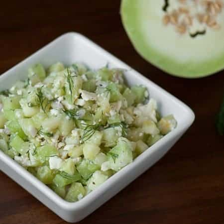 Lemon Cucumber Honeydew Salad
