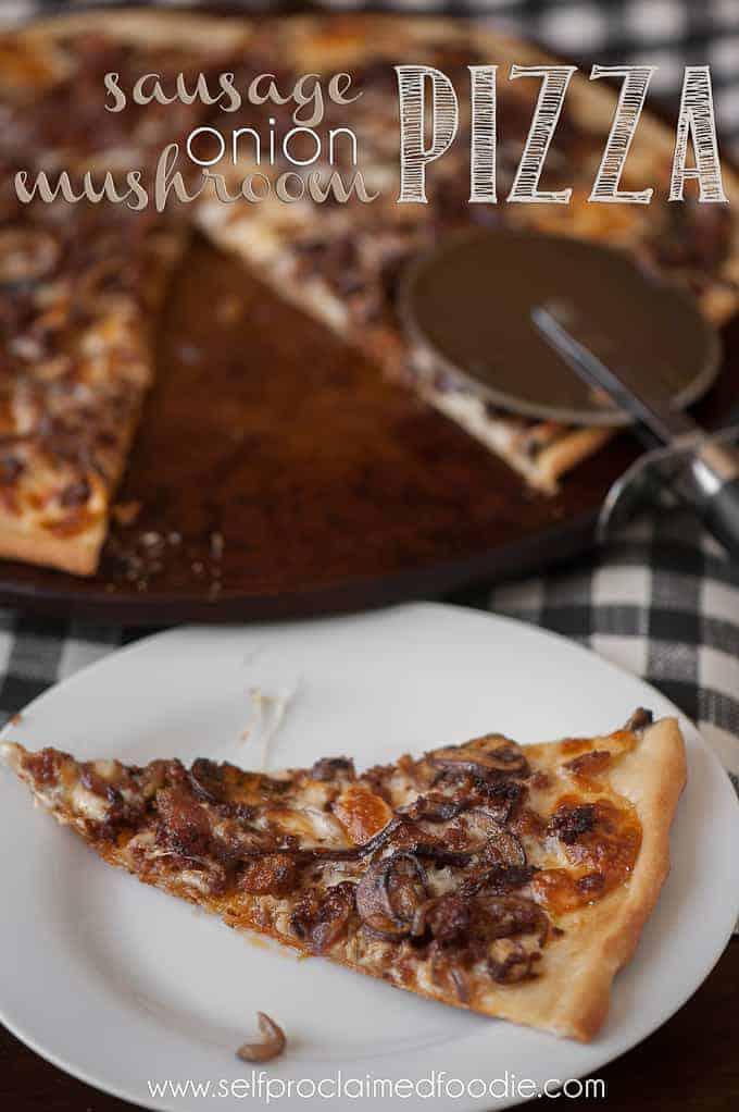 Sausage Onion Mushroom Pizza