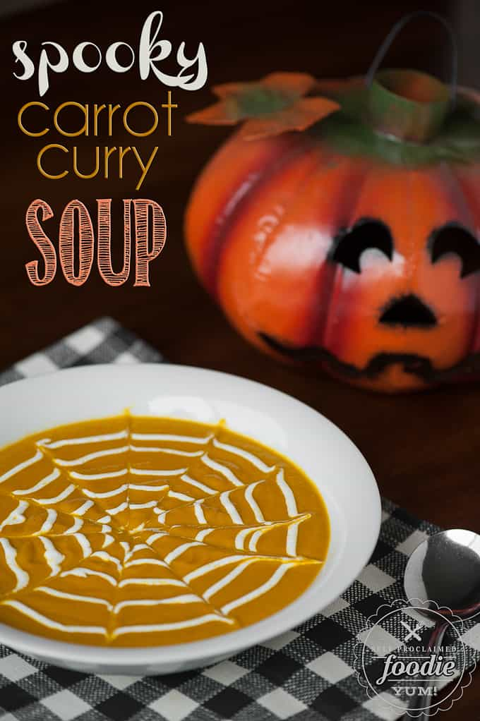 Spooky Carrot Curry Soup | Self Proclaimed Foodie