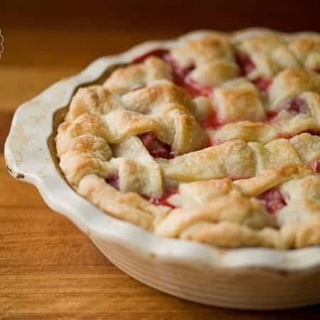There are few pies better than a mouthwatering, sweet yet tart, flaky crusted, warm Strawberry Rhubarb Pie. Oh yeah.