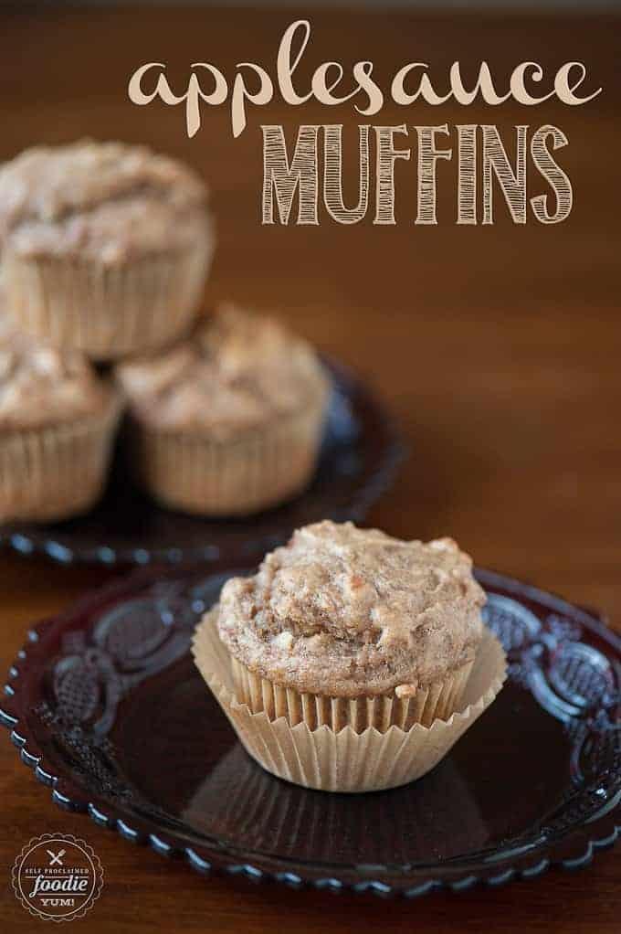 Applesauce Muffins | Self Proclaimed Foodie