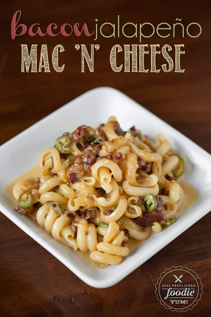 Bacon Jalepeño Mac and Cheese has just the right amount of heat and salty crunch to make it the best homemade macaroni and cheese!