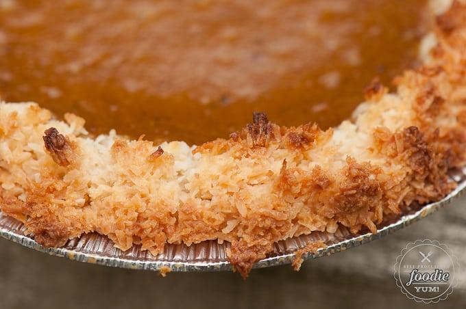 Coconut Macaroon Pumpkin Pie | Self Proclaimed Foodie