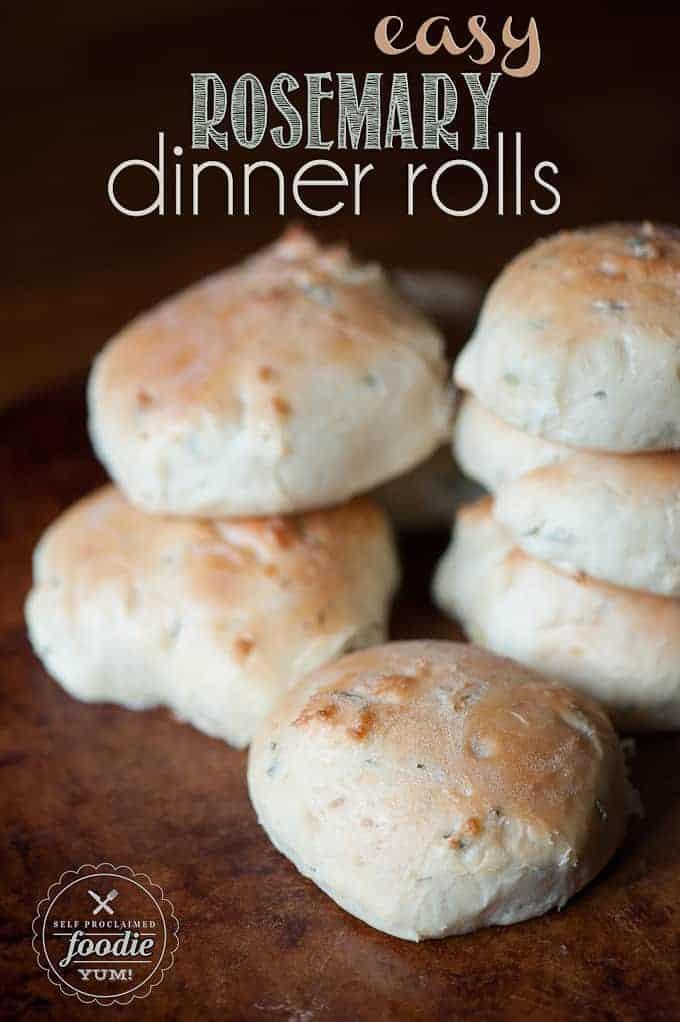 Easy Rosemary Dinner Rolls | Self Proclaimed Foodie