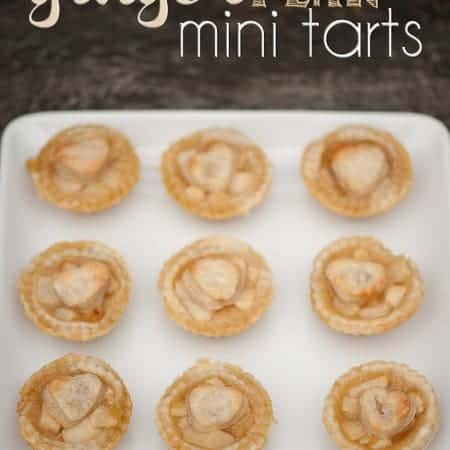 Ginger Pear Mini Tarts | Self Proclaimed Foodie