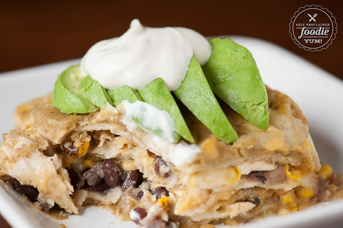Green Chile Enchilada Casserole | Self Proclaimed Foodie