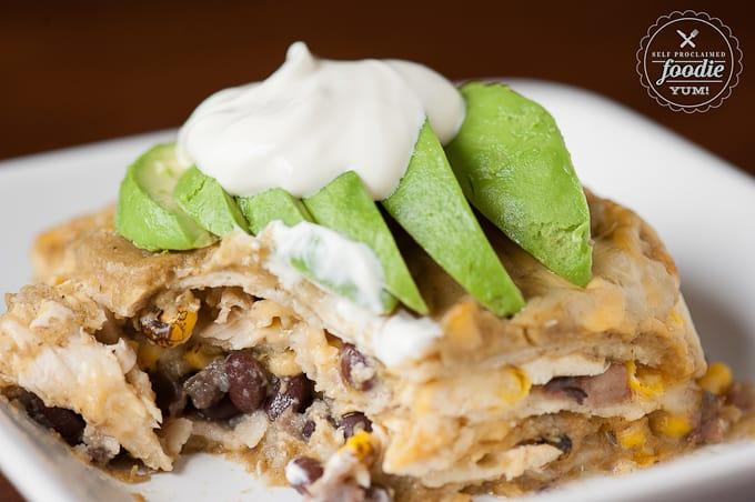 Green Chile Enchilada Casserole | Self Proclaimed Foodie