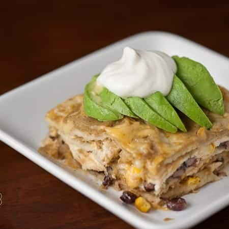 Green Chile Enchilada Casserole is an easy one dish dinner that you can make ahead that the entire family will love.