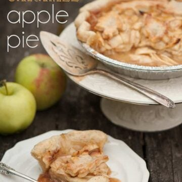 Hard cider caramel apple pie