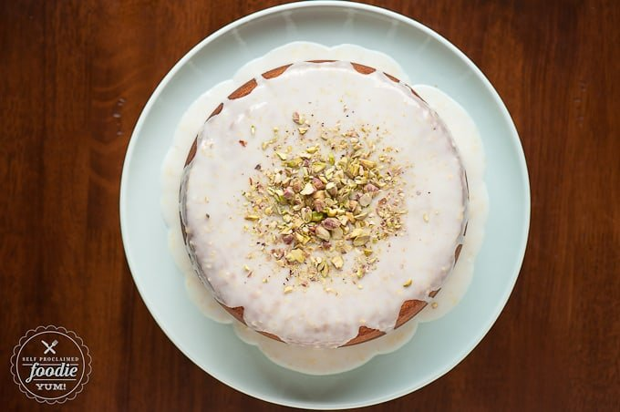Pistachio Lemon Cake | Self Proclaimed Foodie