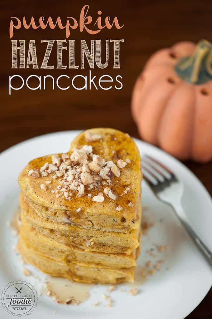 Pumpkin Hazelnut Pancakes | Self Proclaimed Foodie