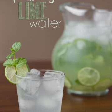 Next time you entertain, your guests will love it if you set out a pitcher of Refreshing Lime Water. Its my favorite way to stay hydrated.