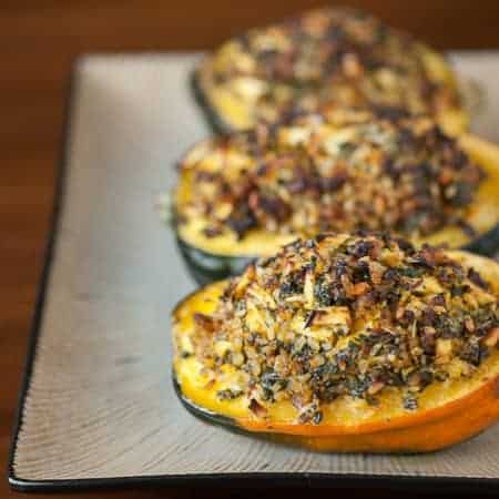 This Stuffed Acorn Squash is full of your favorite Fall and Thanksgiving favorites for a perfect side dish or healthy lunch.