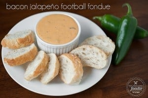 Bacon Jalapeno Football Fondue | Self Proclaimed Foodie
