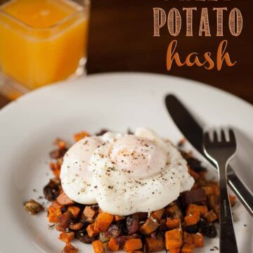 Imagine waking up on a chilly Fall morning to enjoy Poached Eggs over Sweet Potato Hash for breakfast. YUM!