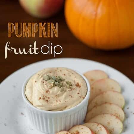 This light and perfectly sweetened Pumpkin Fruit Dip is the quintessential Fall party appetizer or after school snack.