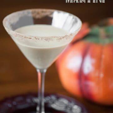 creamy Pumpkin pie martini in glass