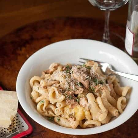 Chanterelle and Squash Pasta
