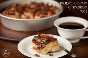 Maple Bacon Cinnamon Rolls | Self Proclaimed Foodie