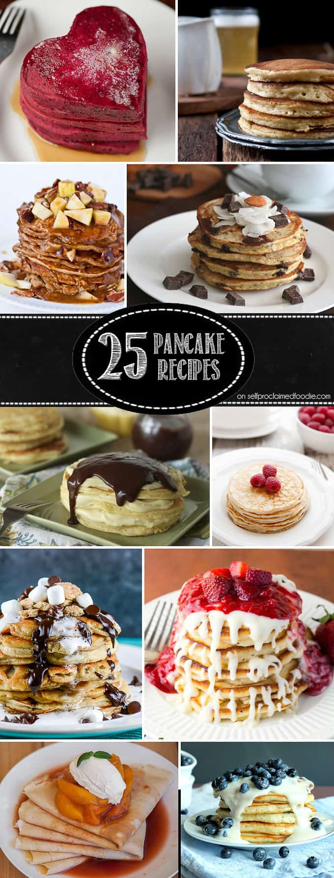 Start your morning off right by making any one of these perfect for summer, fall favorite, healthy, naughty, and/or differently delicious 25 Pancake Recipes
