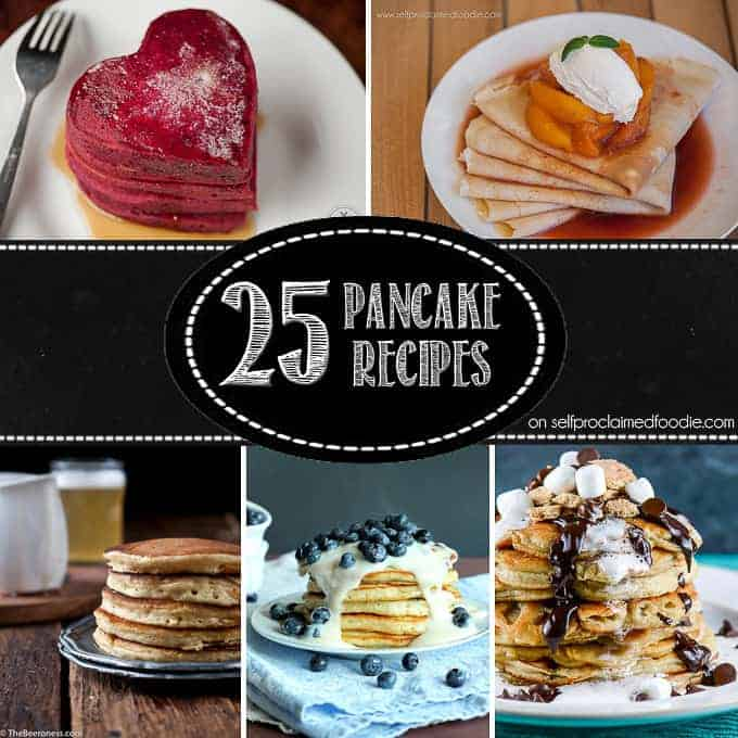 Start your morning off right by making any one of these perfect for summer, fall favorite, healthy, naughty, and/or differently delicious 25 Pancake Recipes.