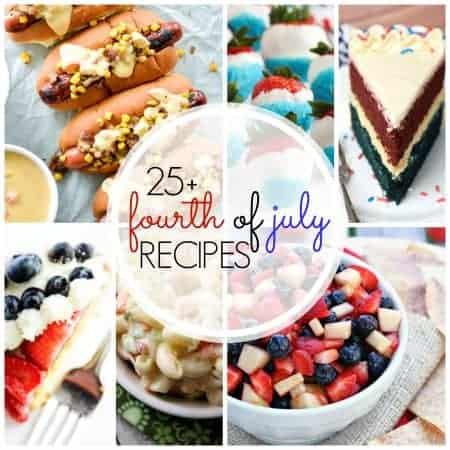 From red, white, and blue treats to the best summer BBQ food, I'm sharing More than 25 Recipes Perfect for the Fourth of July.