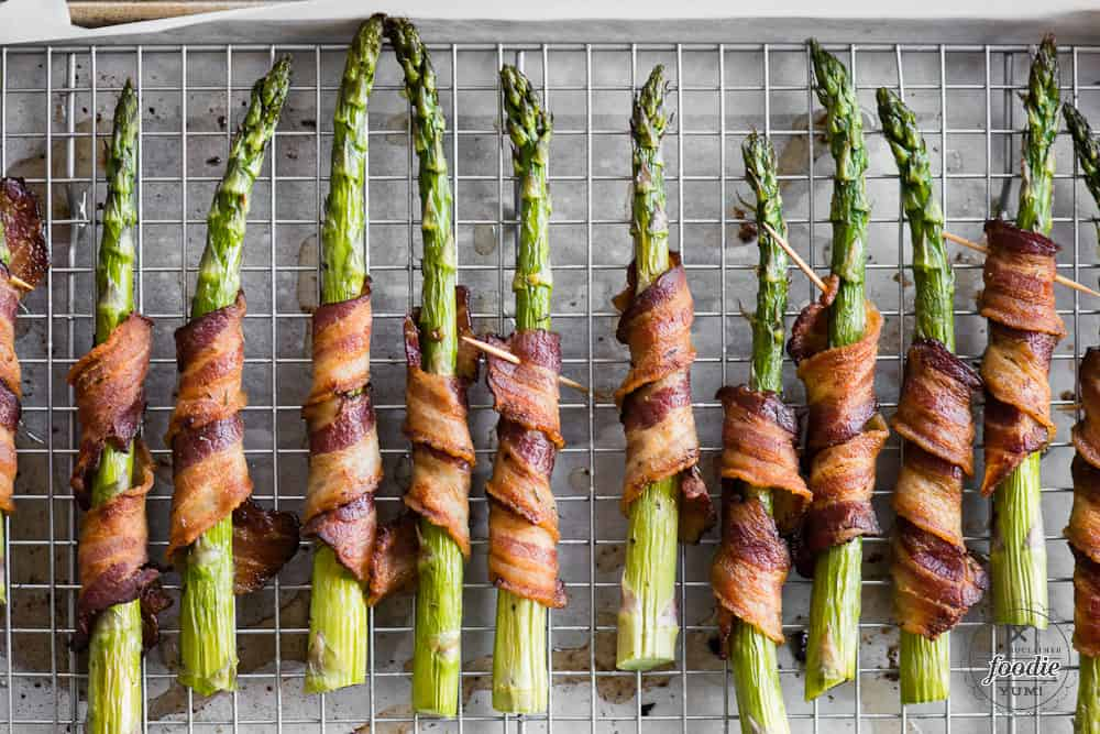 Bacon Wrapped Asparagus side dish