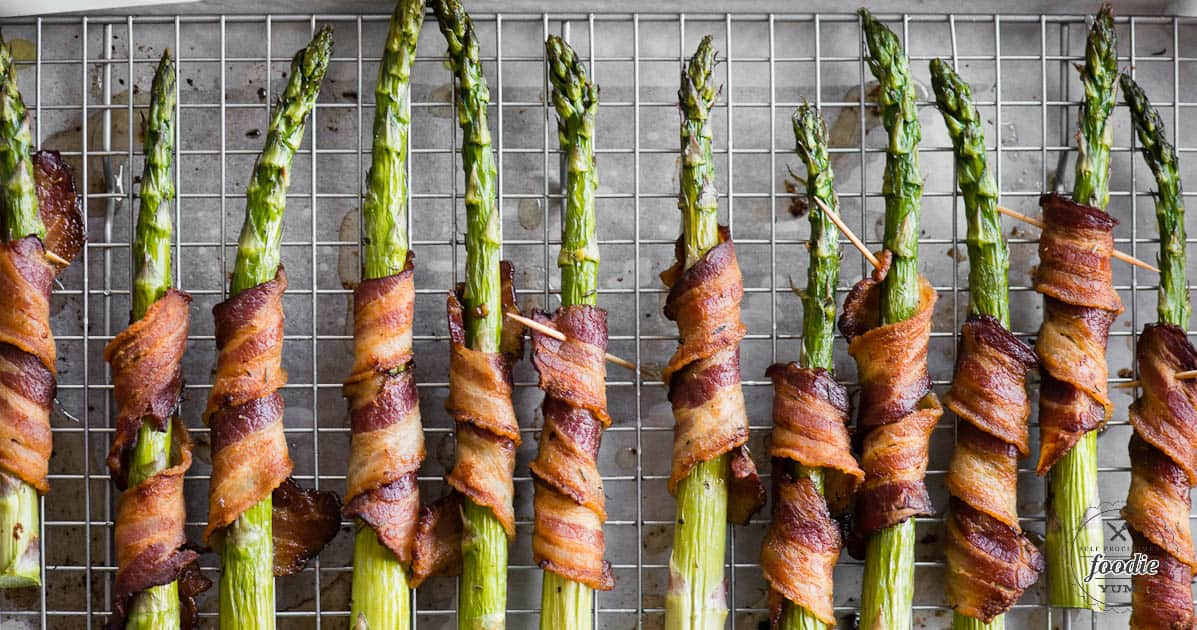 Bacon Wrapped Asparagus | Self Proclaimed Foodie